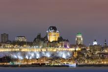 Quebec City Downtown And Fairmont Le Chateau Frontenac