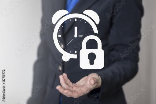 Foto  Time management business security planning web concept