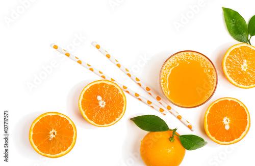 Foto auf Gartenposter Saft Fresh orange juice just squeezed.