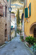 Charming alleys town in the corners, Cetona in Tuscany.