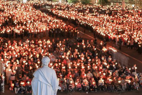 Fotografie, Obraz  Pilgrimage to Lourdes