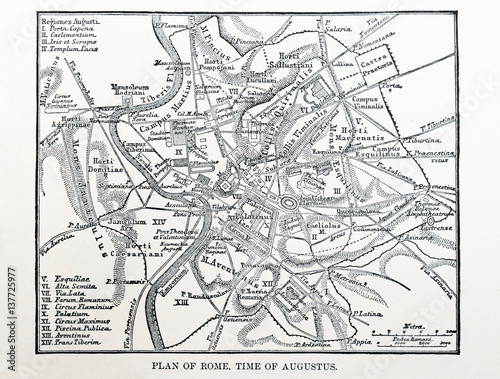 Fotografía map of ancient Rome