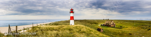 Poster Cote Lighthouse List Ost on the island Sylt