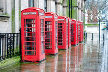 A Line Of Phone Boxes