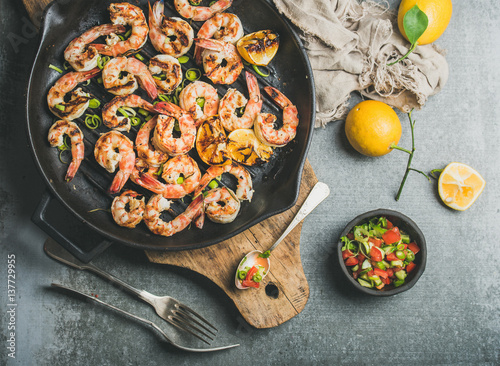 Photo  Seafood dinner