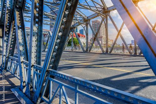 Photo  the Waibaidu bridge in Shanghai,China.