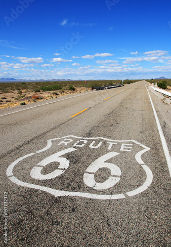 Deurstickers Route 66 route 66 roadway