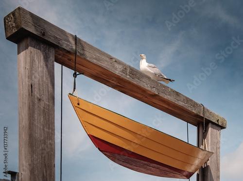 Fototapeta Seagull and Boat