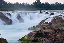 Khone Phapheng Waterfal Champasak Laos.