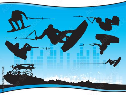 Wakeboarding Wall mural