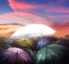 Umbrella Lights Glowing Standi...
