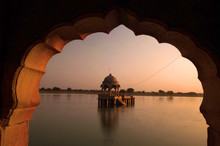 Gadi Sagar Temple Of Rajasthan, India