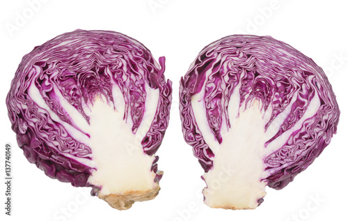 In de dag Art Studio red cabbage on a white background