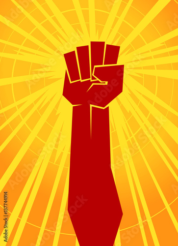Valokuva  clenched fist vector illustration for resistance and revolution symbol