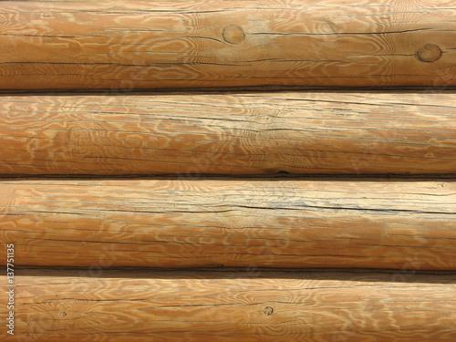 Photographie  Mur de la maison de bois