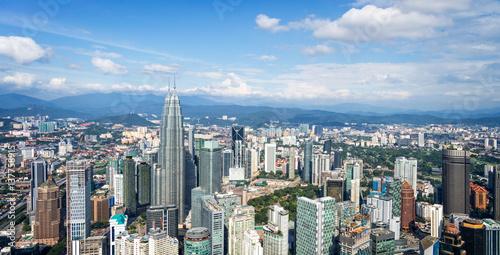 Plagát Aerial view of Kuala Lumpur skyline, Malaysia