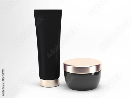 Photo  Package beauty cream bottle design 3d rendering
