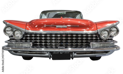 old and classic american car - isolated Fototapeta