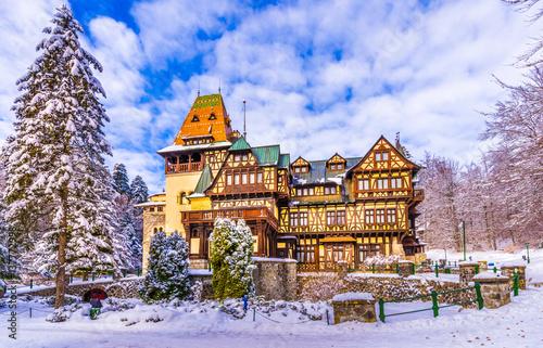 Pelisor museum, part of the Peles castle, protected by Unesco World Heritage Site , Sinaia, Transylvania, Romania.