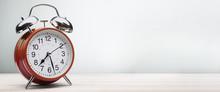 Red Alarm Clock Morning Wake-u...