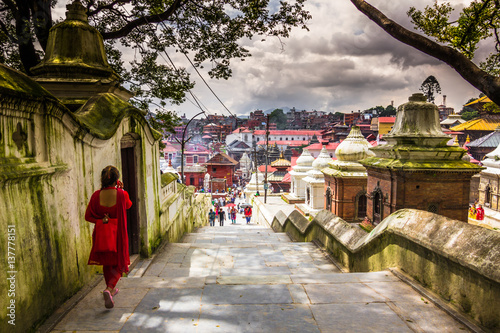 Fotoposter Temple August 18, 2014 - Pashupatinath Temple in Kathmandu, Nepal