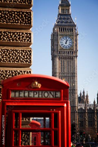 Fototapeta iconic Big Ben and Houses of Parliament, London