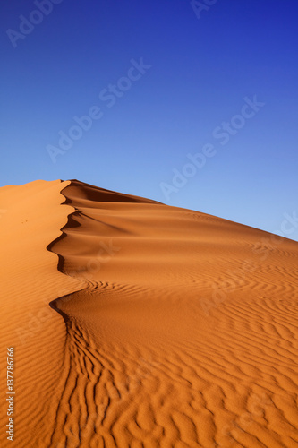 Photo sur Toile Desert de sable Sand Dunes Morocco desert