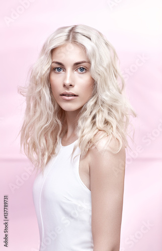 Printed kitchen splashbacks Artist KB Closeup portrait of an elegant blond woman