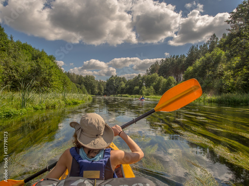 Fotomural  canoeing  excursion