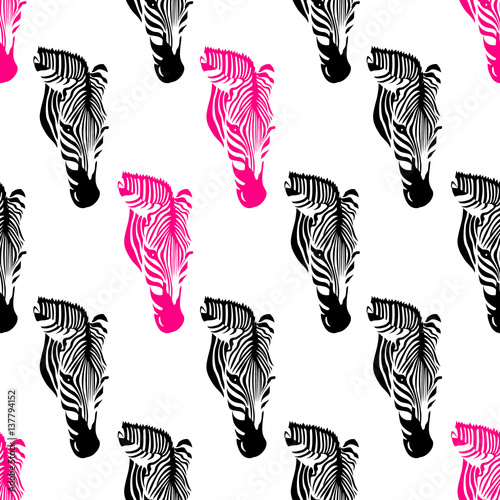 zebra-heads-seamless-pattern-black
