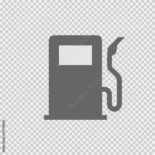 Gas Pump Vector Icon Eps 10 Gasoline Station Symbol On Transparent