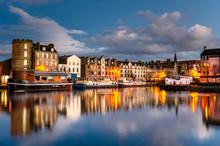 Old Leiths Docks At Twilight. Edinburgh, Scotland.