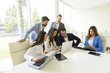Young business people in the modern office