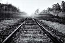 Abandoned Railroad Tracks Into...