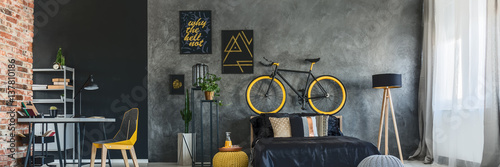 Hipster studio apartment Canvas Print