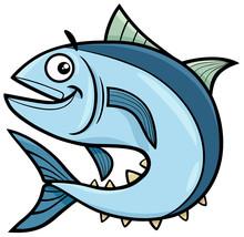 Tuna Fish Cartoon Character