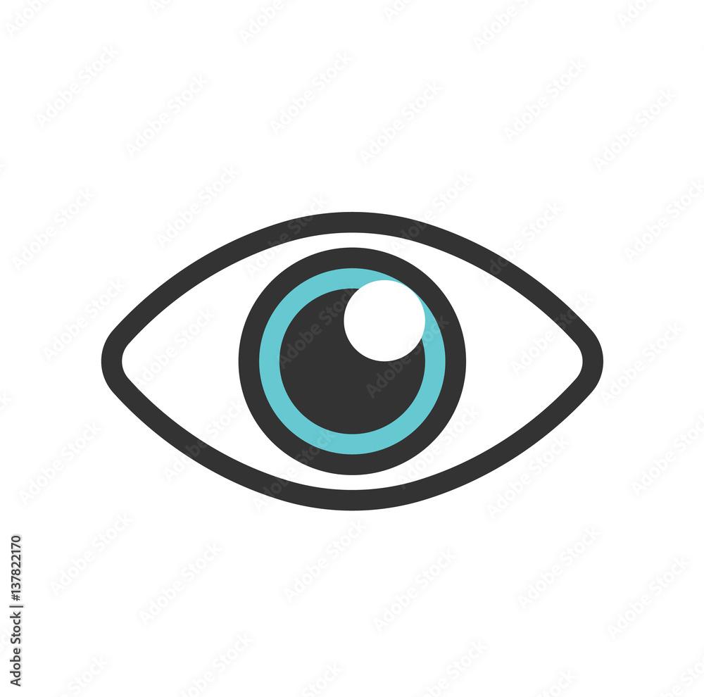 Fototapeta Blue eye for logo and other. isolated on white background . vector illustration