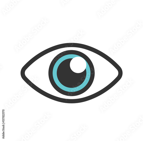 Blue eye for logo and other Fototapeta