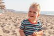 portrait of a caucasian baby boy