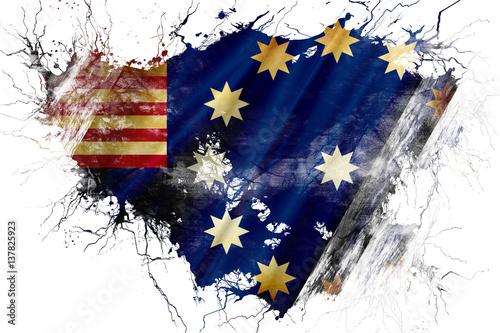 Fotografie, Obraz  Grunge old Easton flag