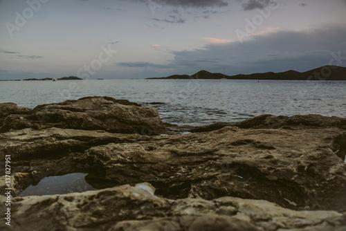 Printed kitchen splashbacks Lake Morze w Chorwacji