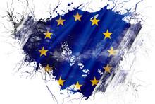 Grunge Old European Union  Flag