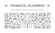 Vector line concept of financial planning