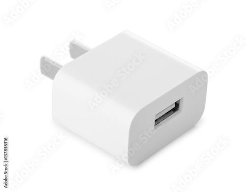 Leinwand Poster Usb wall charger plug