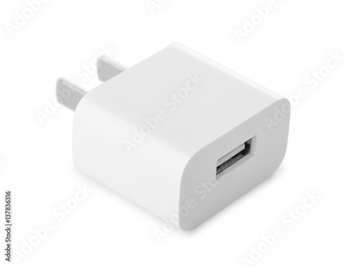 Usb wall charger plug Fototapete