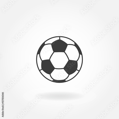Deurstickers Bol Soccer icon. Football ball or soccer ball vector icon.