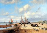 Morze, łodzie, rybak, obrazy olejne - 137842775