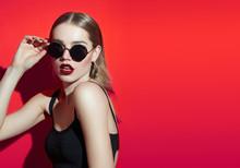 Fashionable Girl In Sunglasses...