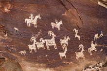 Ute Indian Petroglyphs, Arches National Park, UT