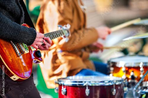 Fototapeta Festival music band